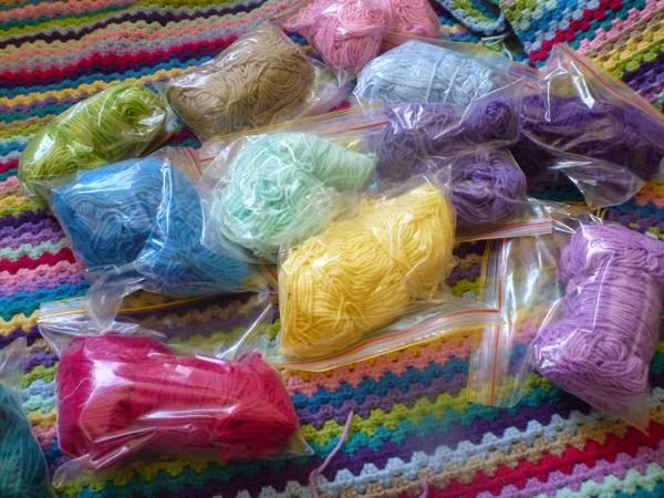 Bagged and Sorted Yarn