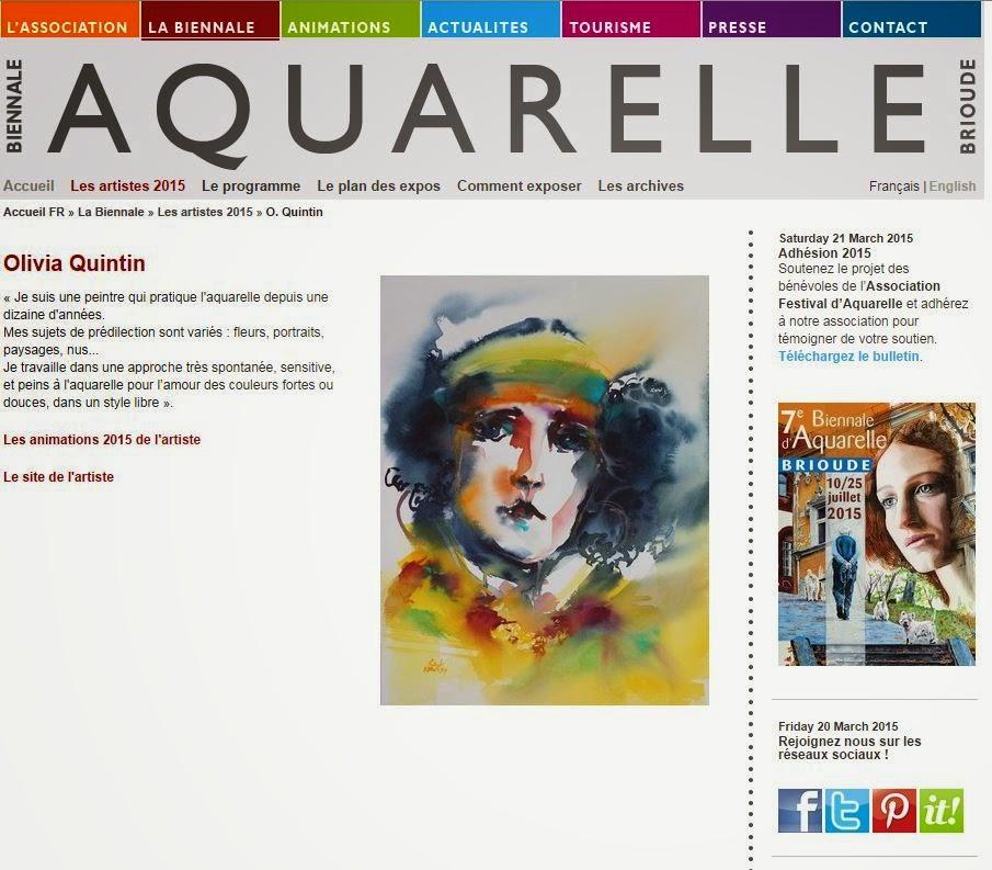 Expo et stages à la biennale d'aquarellle de Brioude !
