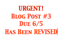 Blog Post Instructions Revised