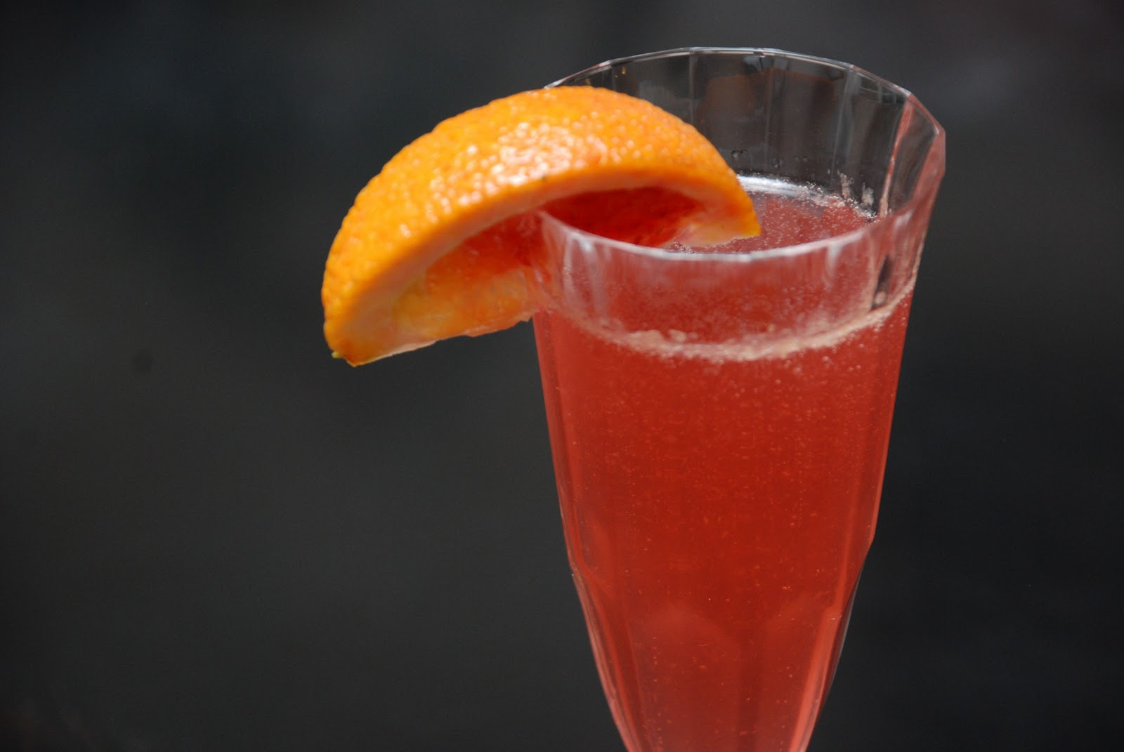 Tomatoes on the Vine: Blood Orange French 75