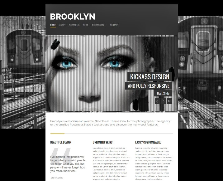 Brooklyn - Creative Responsive WordPress Theme