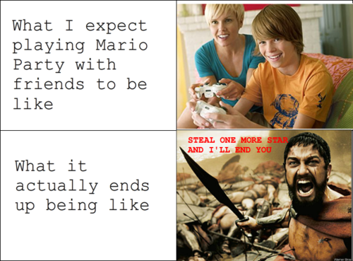 Playing Mario Party With Friends - Expectation vs Reality