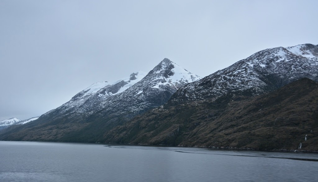 Chilean Fjords snow mountains