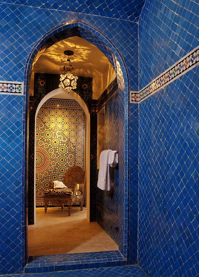 To Da Loos Moroccan Dreams Blue Bathroom