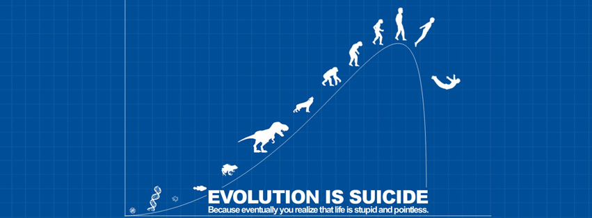 Evolution is suicide Funny Facebook Timeline Covers