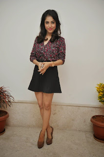 Priya Benerjee in Very Cute Mini Skirt and Shirt at Memusaitham Cricket Event