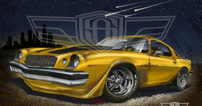 Sam Ames  Bumblebee Camaro 1977 Rally Sport Lt