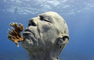 Cancun meksika sualtı heykel müzesi