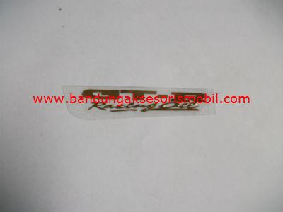 Emblem Alumunium Kecil Gold GTR Racing