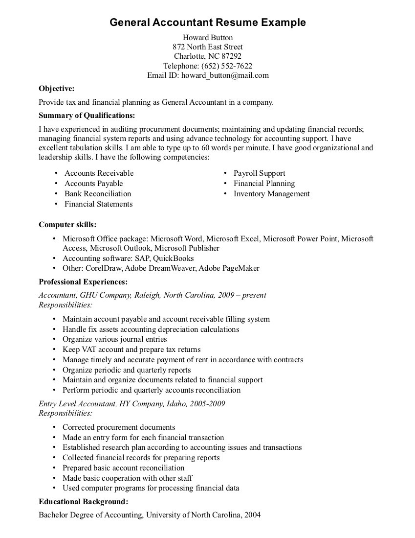 skills example on resume