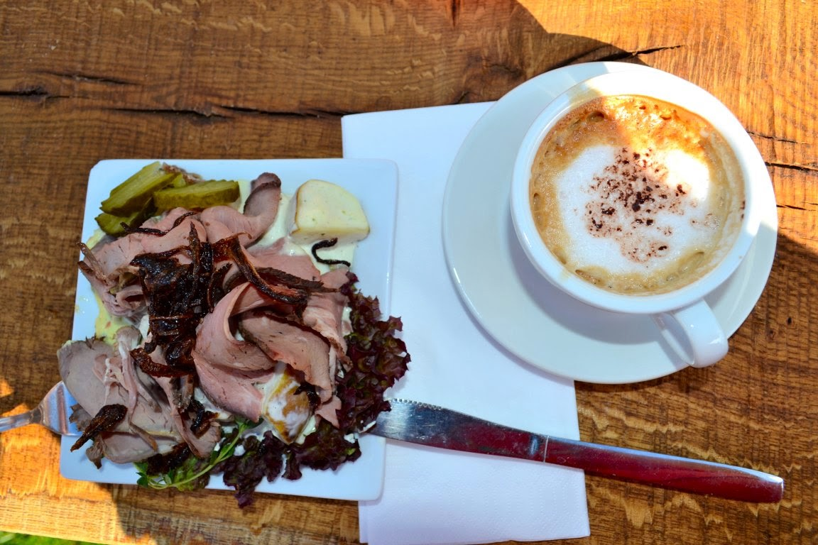 What about a moose salad and a yummy cappuccino? : )