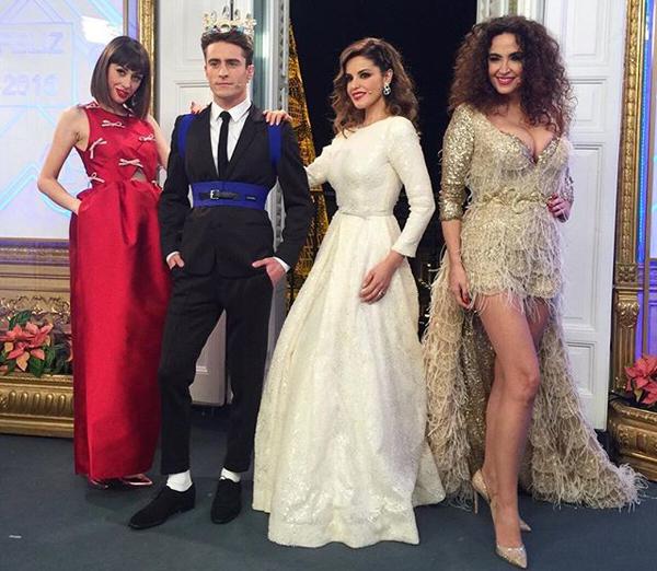 Campanadas vestidos estilistas Natalia Cristina Pelayo y Marta Cámbiame Telecinco