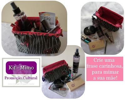 Uma linda necessaire com vários produtos de beleza!