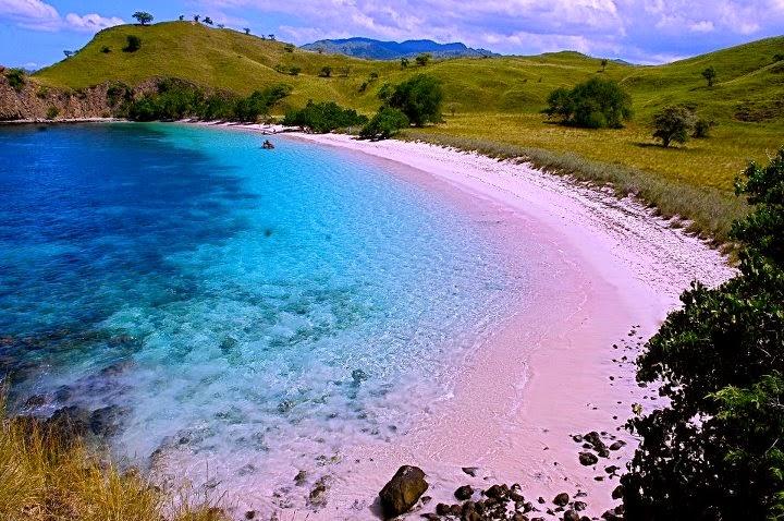 Keindahan Pantai Pink Beach di Kepulauan Komodo, Nusa Tenggara Timur