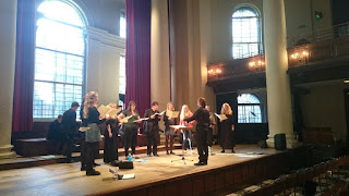 Sansara preparing for the London International A Cappella Choir Competition at St John's Smith Square