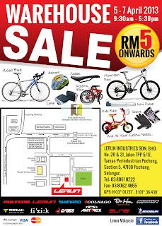 Lerun Malaysia Warehouse Sale 2013