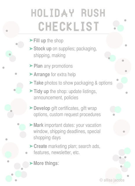 etsy checklist for holidays