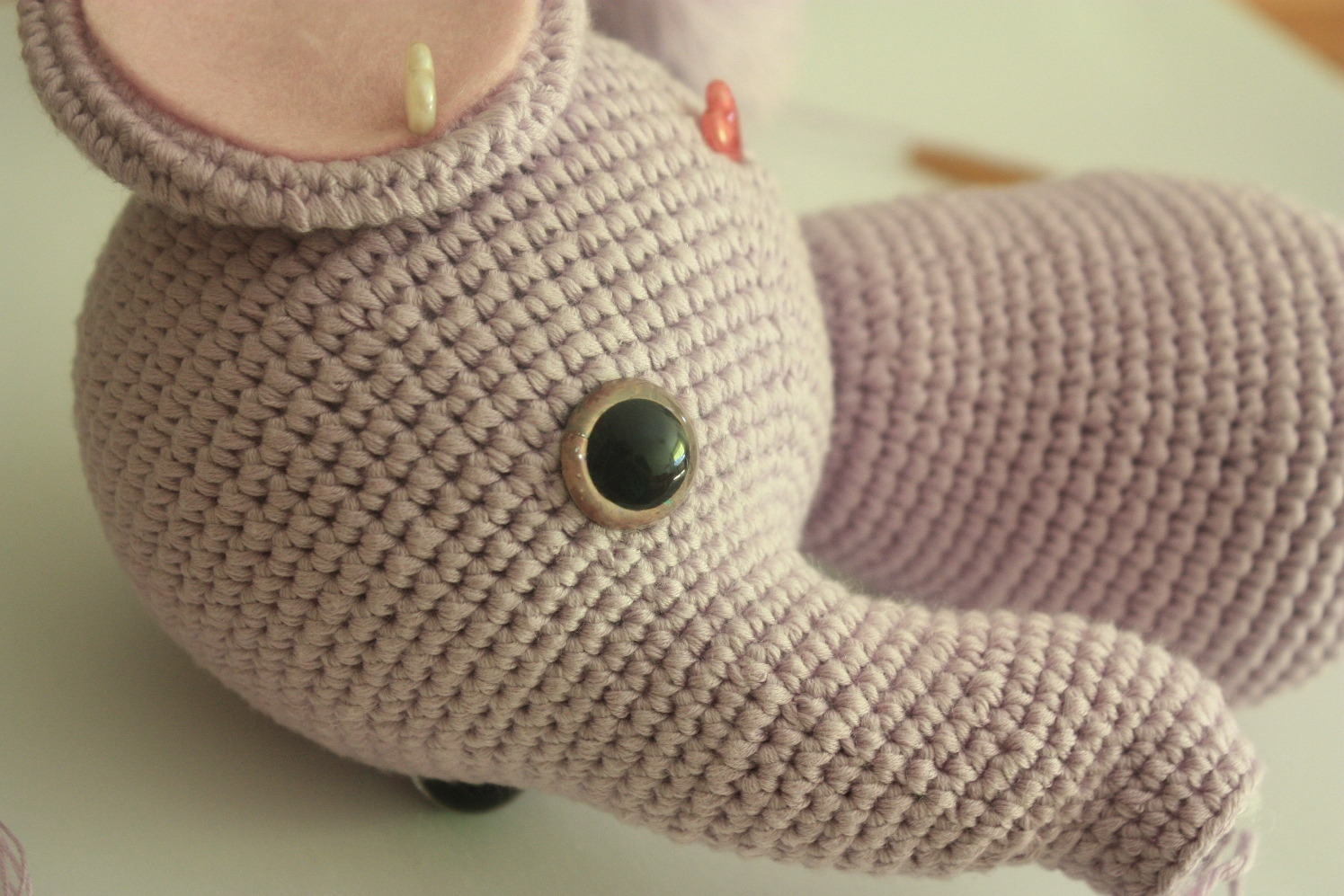 Amigurumi Elephant Pattern : Happyamigurumi: amigurumi elephant pattern in process
