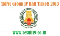 Download TNPSC Group IV Hall Tickets 2013