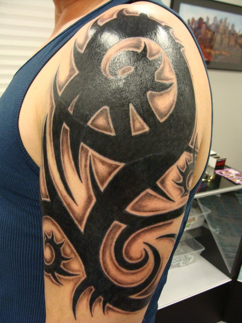 Tribal Shoulder Tattoos Designs  Tribal Shoulder Tattoos Idea