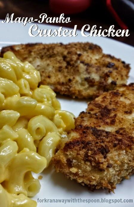 Mayonnaise Panko Bread Crumb Chicken Breast Baked
