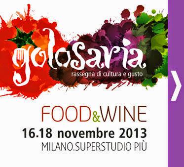 golosaria a milano. rassegna di cultura e gusto dal 16 al 18 novembre