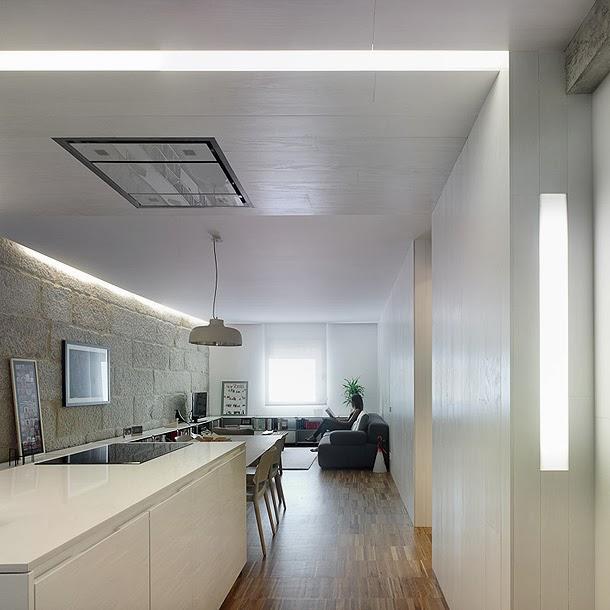 Marzua moderno apartamento para una joven pareja por castroferro arquitectos - Interiorismo vigo ...
