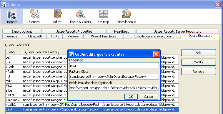 Oracle cursor fields