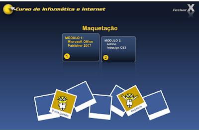 CURSO DE INFORMÁTICA E INTERNET - MAQUETAÇÃO