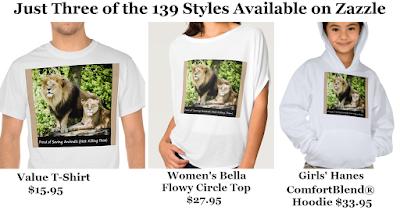Proud of Saving Animals (Not Killing Them) T-Shirts on Zazzle designed by RoseWrites