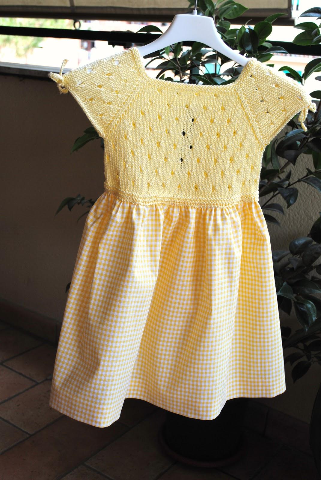 Magliamagia abitino raggio di sole taglia 2 anni - Punto a punto per i bambini di 3 anni ...