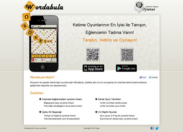Wordabula Türkçe dil destekli Android oyunu