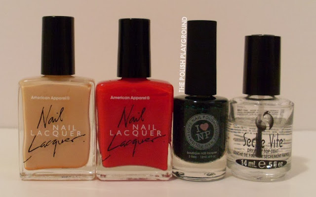 American Apparel, I Love Nail Polish, Seche Vite