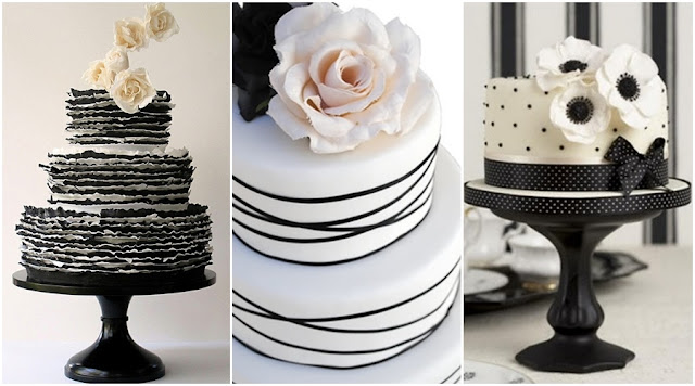Black And White Wedding Cakes