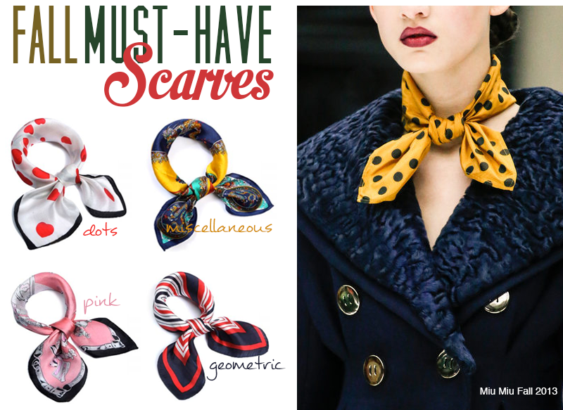 Aupie fashion store website asian clothing classy scarves miu miu fall 2013 scarf