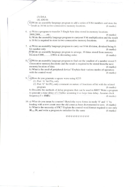 DIGITAL ELECTRONICS & MICROPROCESSORS - Question Papers 2