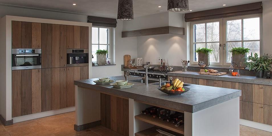 Encantadoras cocinas para casas de campo cocinas con estilo - Keuken steen en hout ...