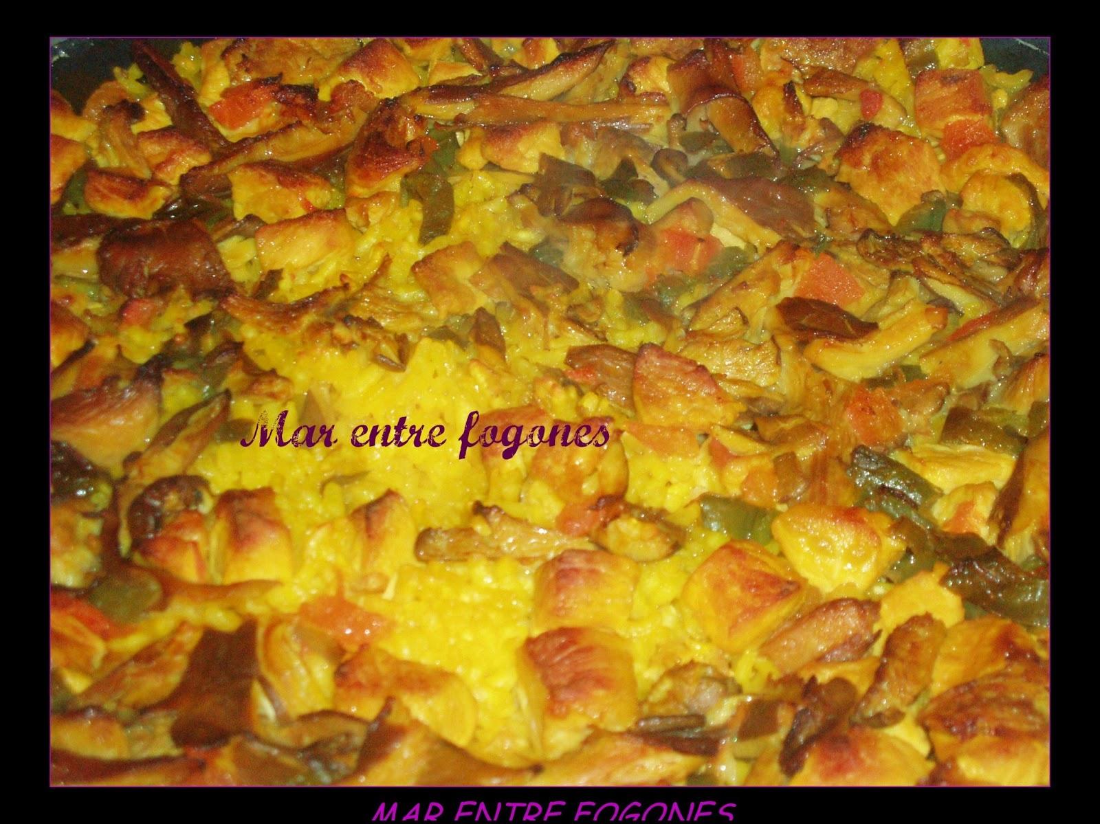 Mar entre fogones arroz al horno con verdura y lomo for Horno con fogones