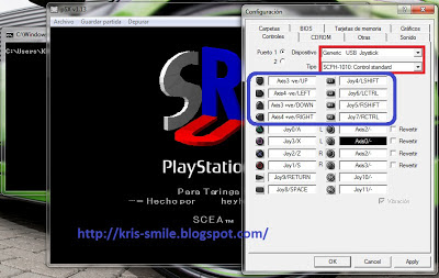 Cara setting Memoricard + joystick Game PS13