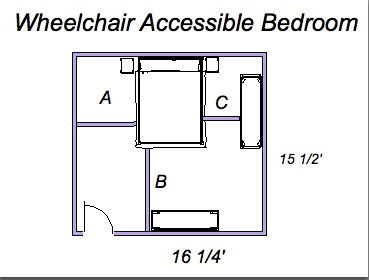 Ada universal design what size is a wheelchair accessible Ada compliant homes