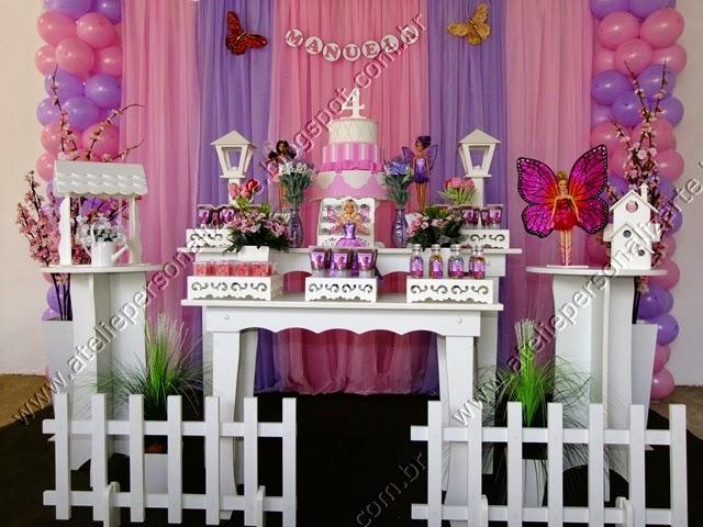 Decoração Barbie Butterfly provençal