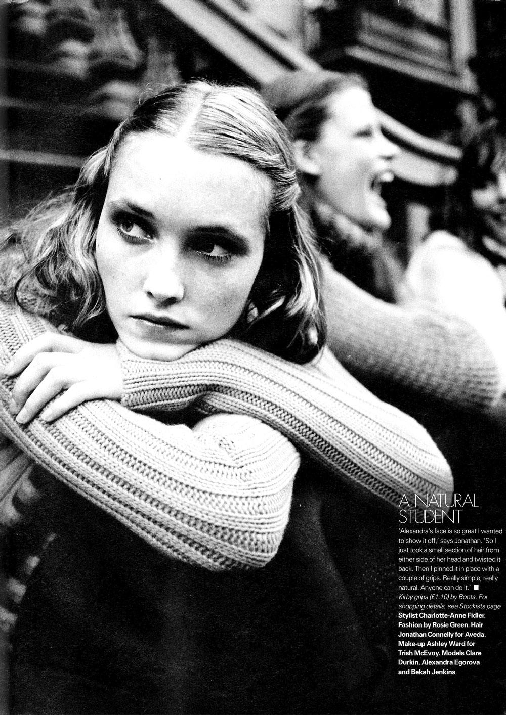 Alexandra Egorova Elle UK via fashioned by love