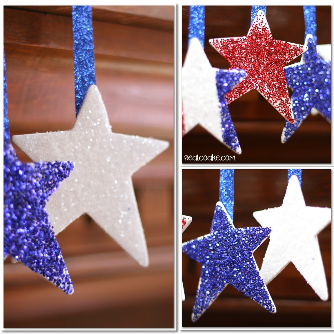 Th of july crafts make patriotic glitter stars