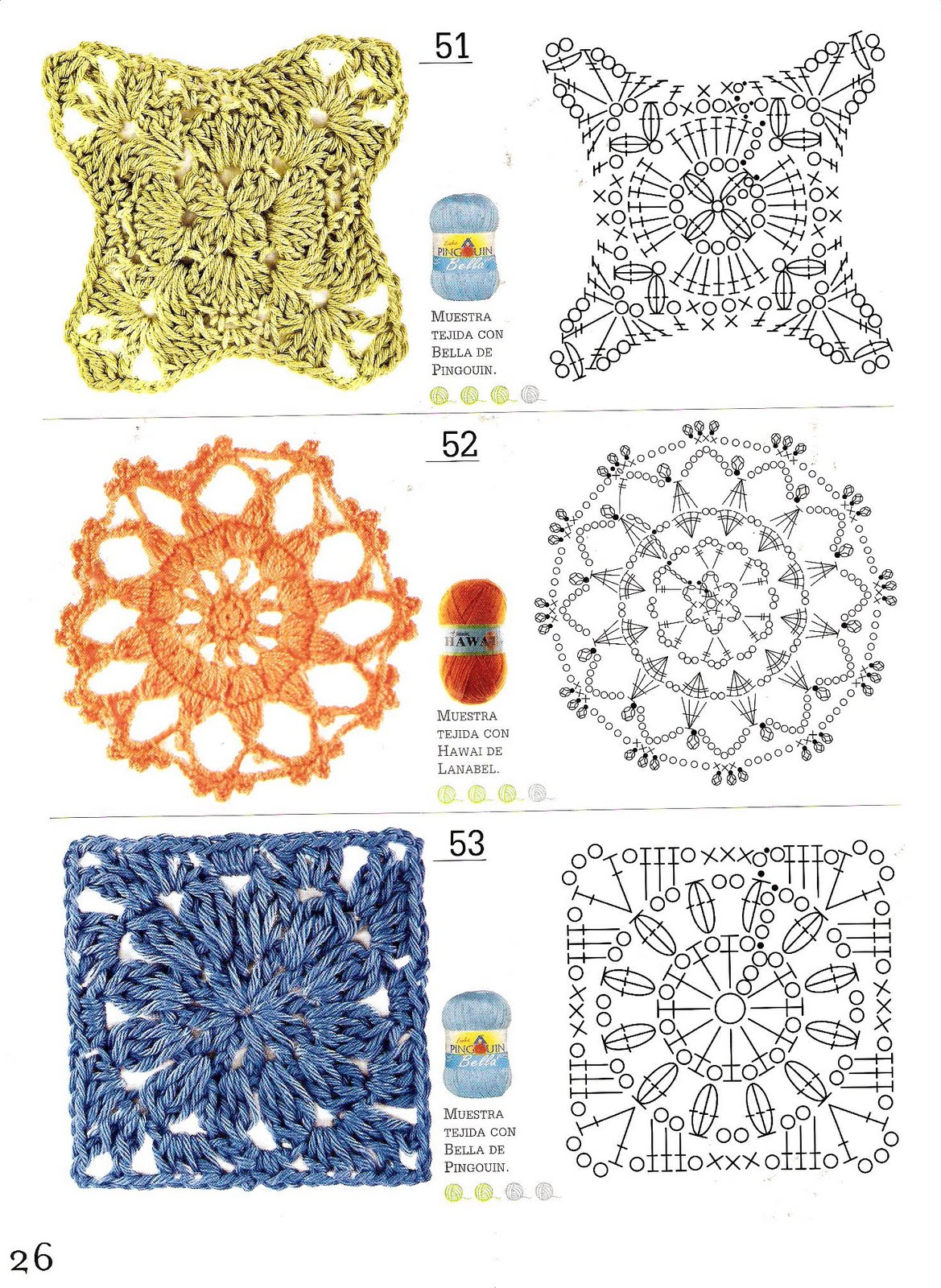 Etiquetas: dificultad facil , flores , modulos , motivos cuadrados