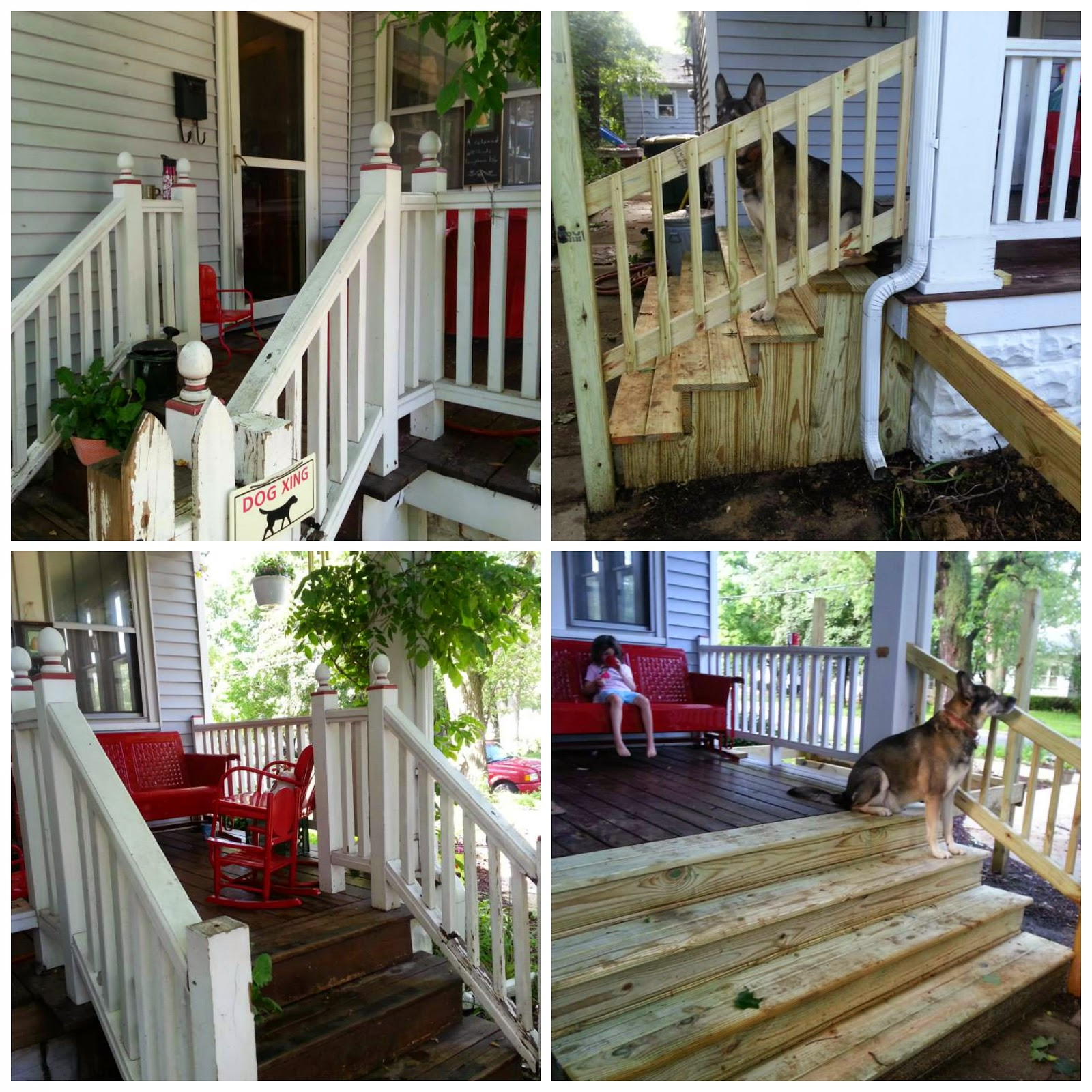Live Your Love Out Loud Small Front Porch And Stairs