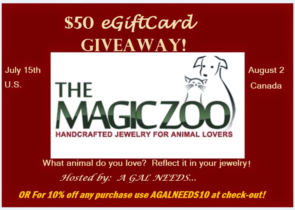 Enter the Magic Zoo Giveaway. US/CA Ends 8/2.
