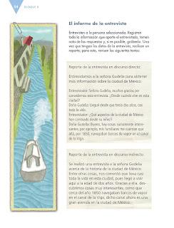 Apoyo Primaria Español 6to Grado Bloque II Lección 1 Escribir un reportaje sobre tu localidad