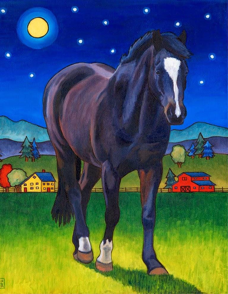 cuadros-grandes-de-caballos-modernos