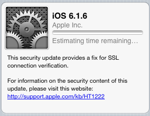 Apple iOS 6.1.6 Official Change Log