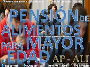 DEMANDA DE ALIMENTOS PARA MAYOR DE 18 AÑOS DE EDAD POR ESTUDIOS.